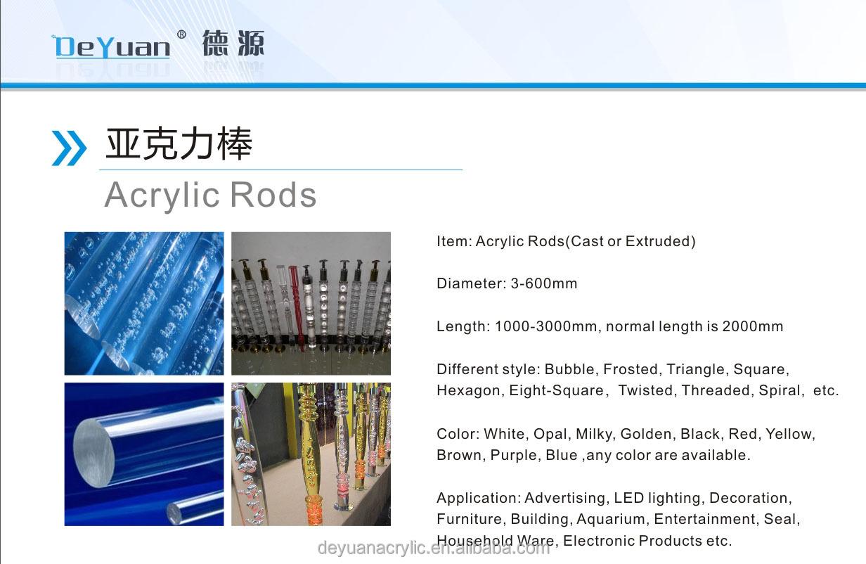 acrylic color bubble rod stair handrail acrylic handrail buy