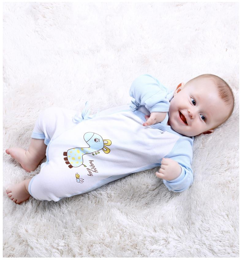 Free Shipping Unisex-Baby Newborn 100% Cotton Bodysuit Long Sleeve Side-Snap Tees Overall