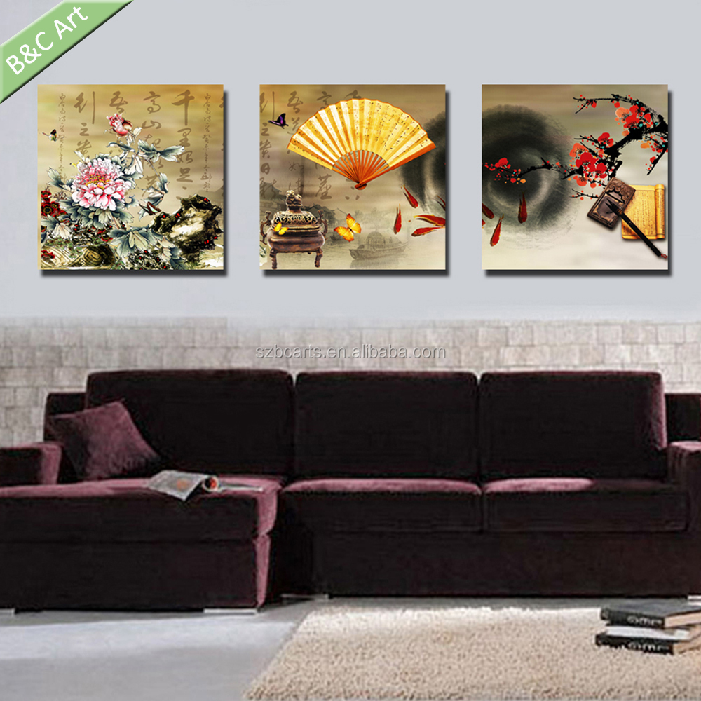 Wall decoration fabric traditional Chinese painting for living room
