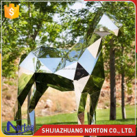 abstract stainless steel horse sculpture in london for home & garden NTS-609X