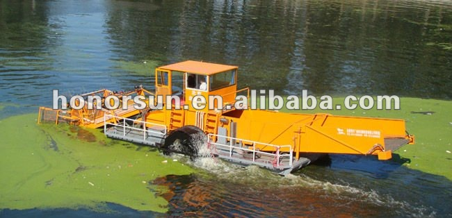 Aquatic weed harvester/Garbage salvage ship/ Water hyacinth harvester
