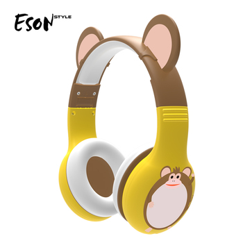 Eson style Share 85db Wired earphones Adjustable fordable factory original 360 degree Bendable Soft Over Ear Kids Headphone