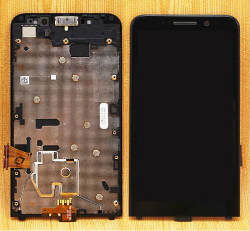 LCD Display Touch Screen Digitizer Assembly Bezel Frame For Blackberry Z30 LCD 4G version , Black