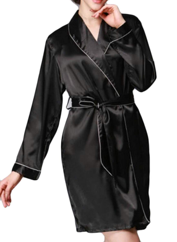 Get Quotations · Zago Womens Sleepwear Loungewear Satin Silk Bathrobes Robes b3037a59c