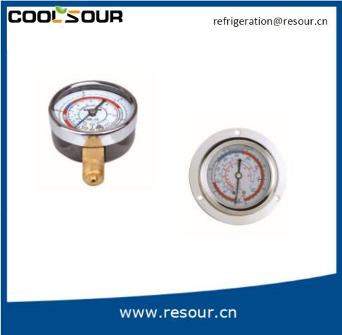 Coolsour Factory price single scale oil liquid filled pressure gauge, High/Low oil pressure gauge