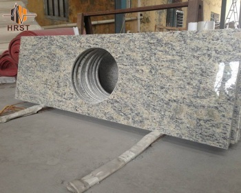 Charming Yellow Santa Cecilia Light Granite Countertops