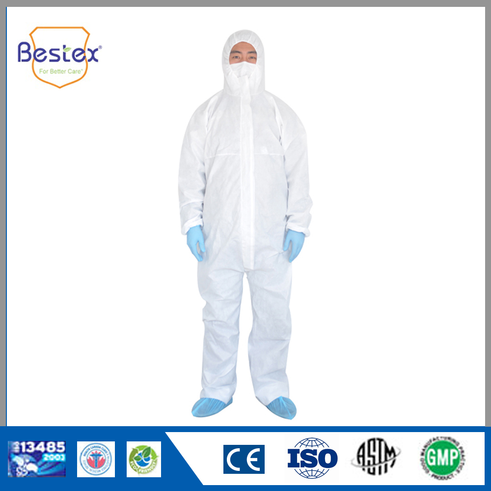 Non Woven Breathable Disposable Coverall Clean Room Coverall