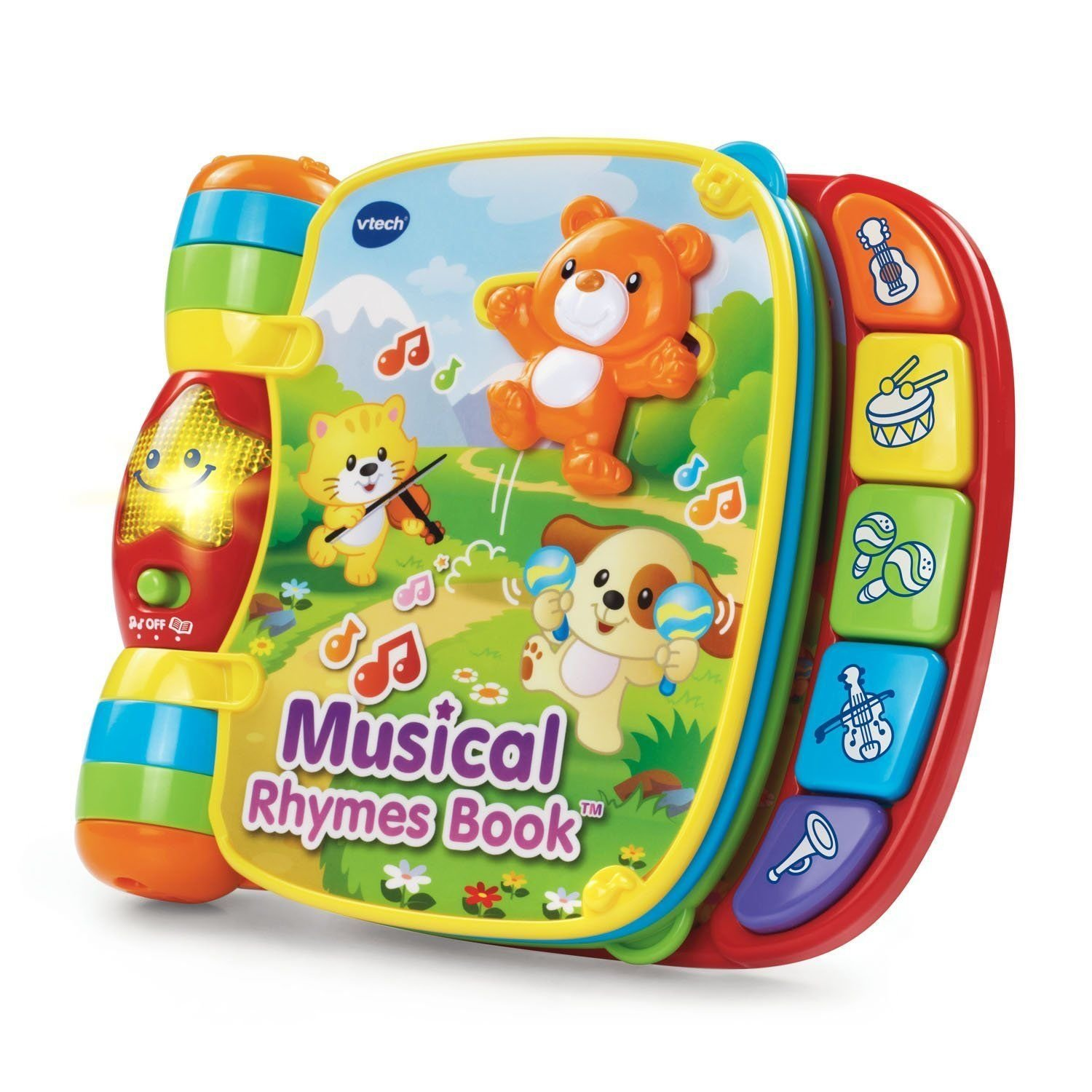 Get Quotations Musical Rhymes Book Interactive 6 Clic Nursery 40 Songs Melos Sound Phrases Music Learning Talking