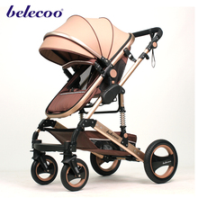 Aluminium baby stroller 3 in 1 with carrycot and carseat pram car seat
