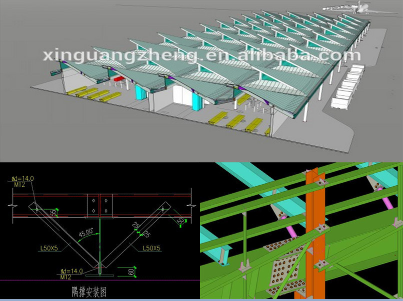 prefab steel frame warehouse for sale