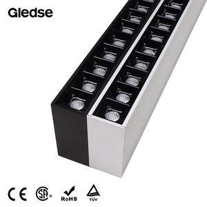 2019 New Design Suspended Black/Silver Aluminium Profile led Linear Wall Washer light