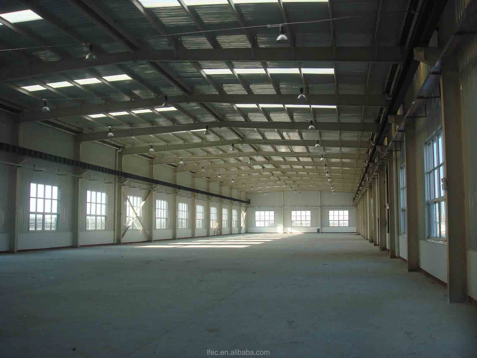 Lightweight Large Span Low Cost Prefab Warehouse Building