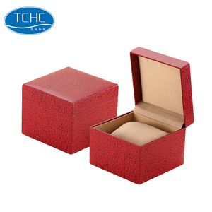 TCHC Watch Boxes Cases Custom Made Paper COVER PLASTIC Watch Box Handmade Cardboard Gift Watch Box