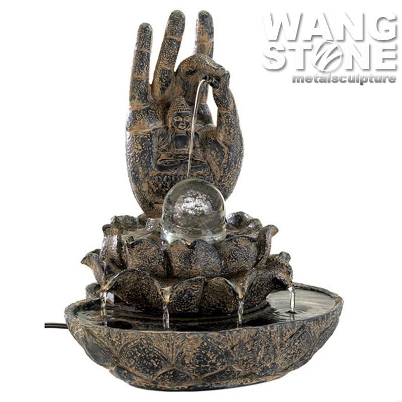 piedra decorativa interior mesa buda fuente de agua