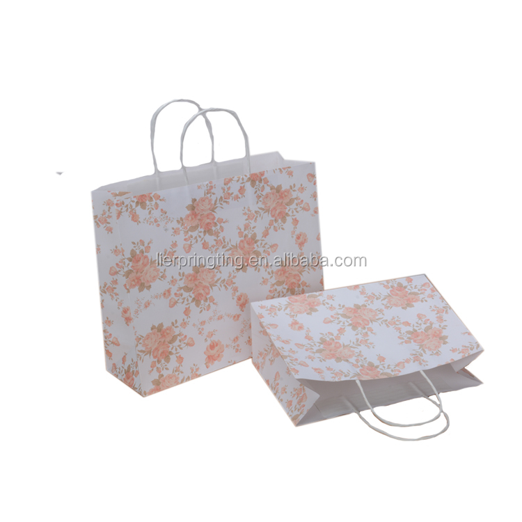 LE China accept custom hot products cheap fashion unique flower pattern birthday gift paper bag