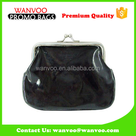 China Supplier Black Women PVC Tote Clutch Coin Wallet