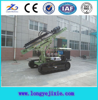 Multi-Function Crawler Solar Ground Pile Driver Machine For Big Solar Projects