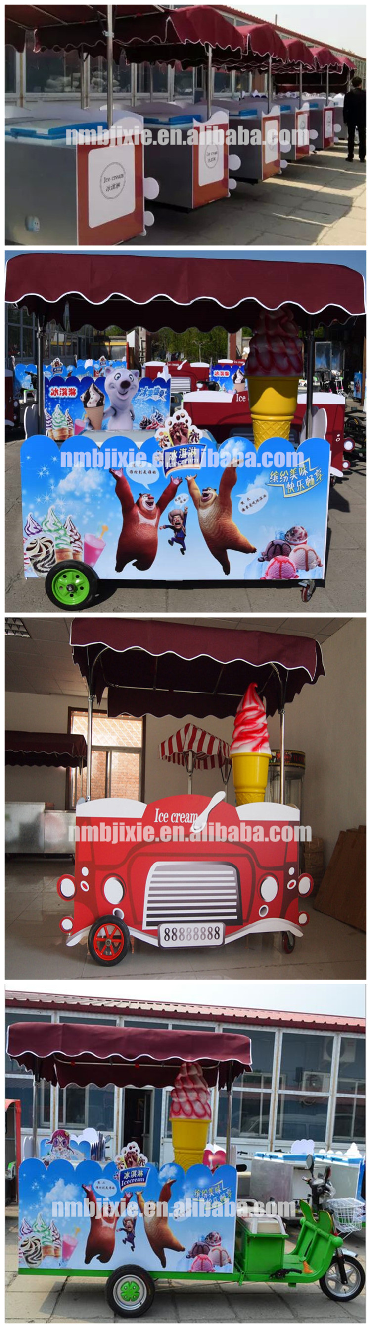 Low price hot dog popsicle street vending electric cold drink ice