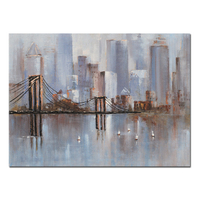 Handmade Modern Abstract Cityscape Canvas Paintings For New York