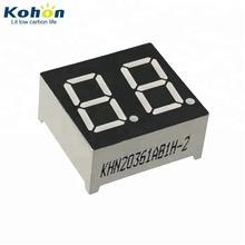 Hot sale common anode/cathode FND blue color 0 36 inch dual 2 digit 7  segment led display module seven segment display