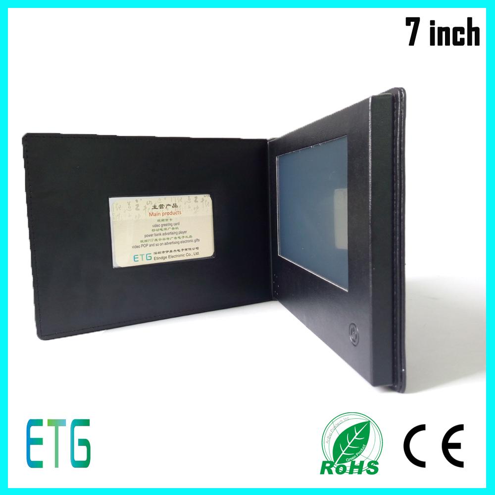 Brochure Display Stand Lcd Video Brochure Card Sample Company ...