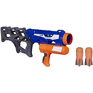 Nerf N-Strike Thunderblast Launcher Thunderblast launcher fires missiles into battle up to 60'