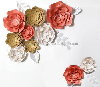 Paper flower wall decoration artificial flower wall giant paper paper flower wall decoration artificial flower wall giant paper flowers mightylinksfo Choice Image