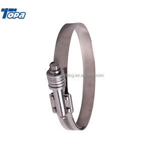 stainless steel hose strip forklift paper roll telescopic pole clamp