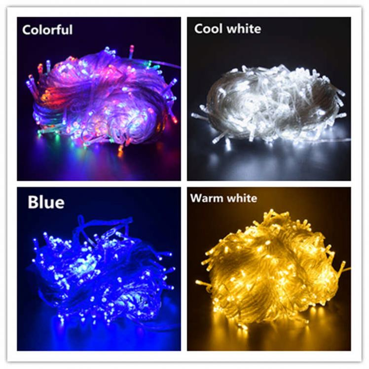 Eco-friendly transparent wire cable multi-colorful 8 function controller 50led christmas decoration string fairy garland light