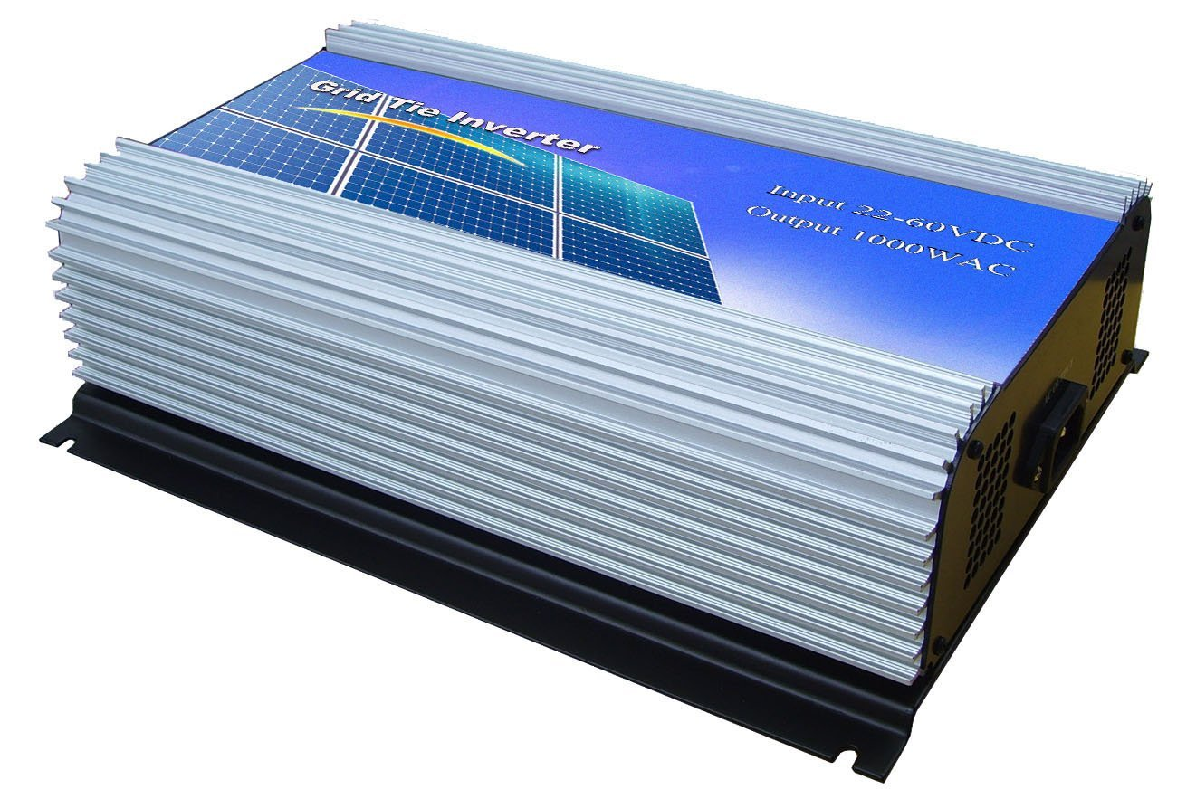 DECEN 1000w High Efficiency On Grid Tie Inverter Output Pure Sine Wave, 22-60vdc,110vac,60hz for Home Solar System
