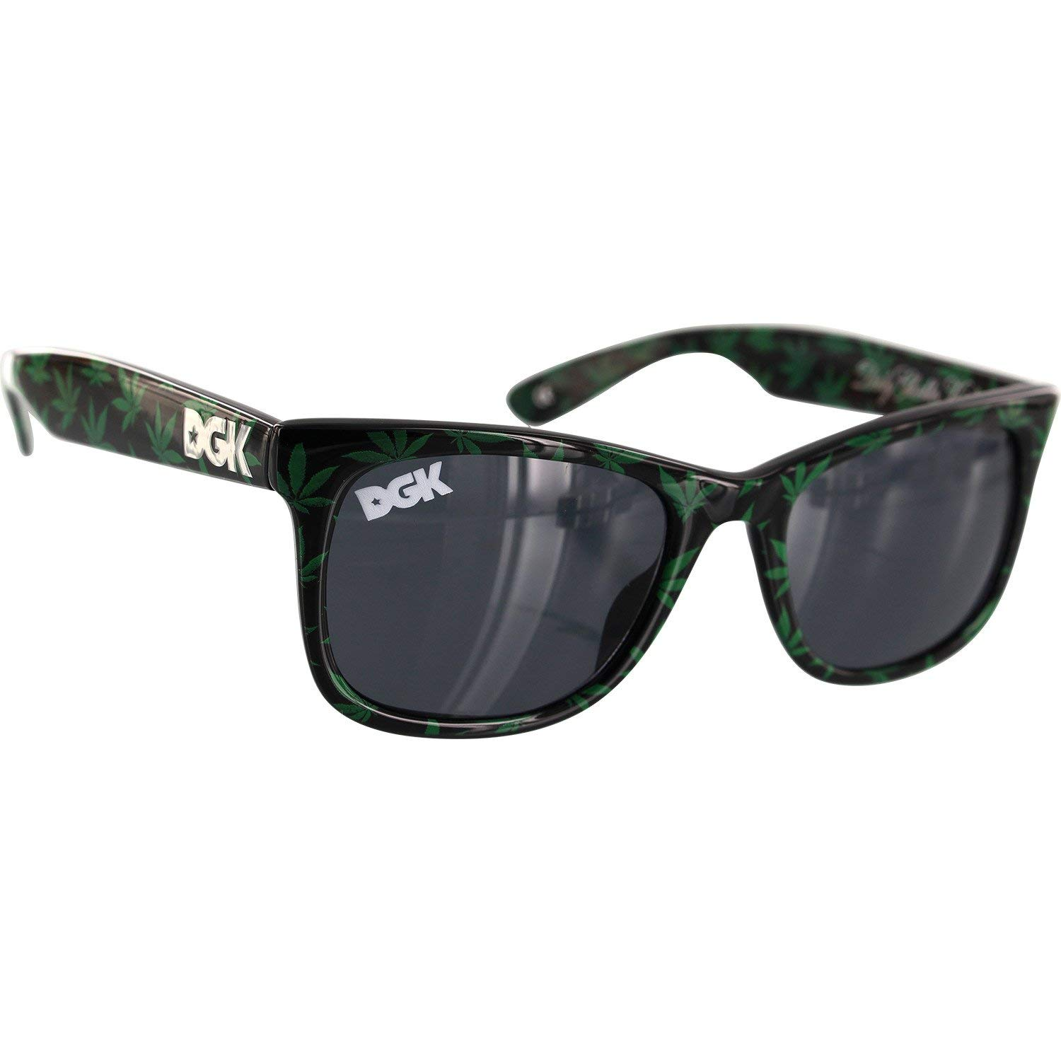 2fe3668994 Get Quotations · DGK Skateboards Classic Shades Leaf Black   Green  Sunglasses