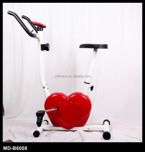 gym equipment fitness exercise bike magnetic heart upright mini my heart shape cute bike for ladies