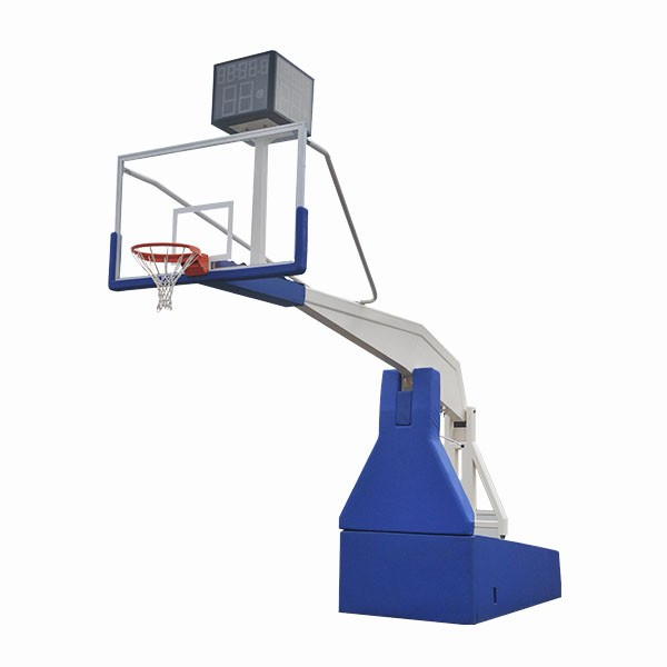Deluxe steel basketball goal electric hydraulic basketball hoop