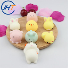 Factory kawaii squeeze toy stress reliever squishy cat 50 styles mini animals penis/breast/toe/cat/rabbit/panda squish