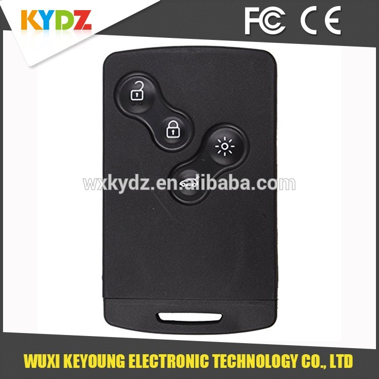 2009-2014 PCF7952 434MHz 4 button New Technology car key fob case for Megane lll