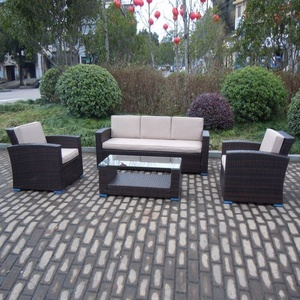 Outdoor pe material sets poolside combination rattan garden furniture sofa set