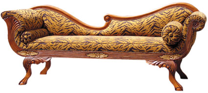 Antique chaise lounge chair antique furniture for Antique wooden chaise lounge