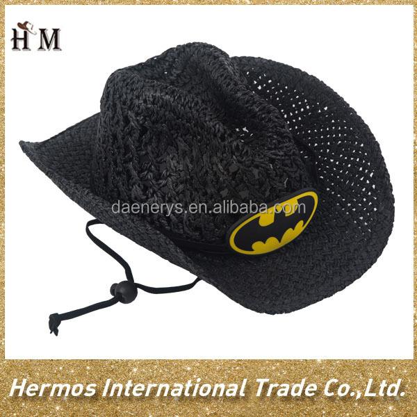 Niños sombrero de vaquero sombrero de paja sombreros barato rafia ...