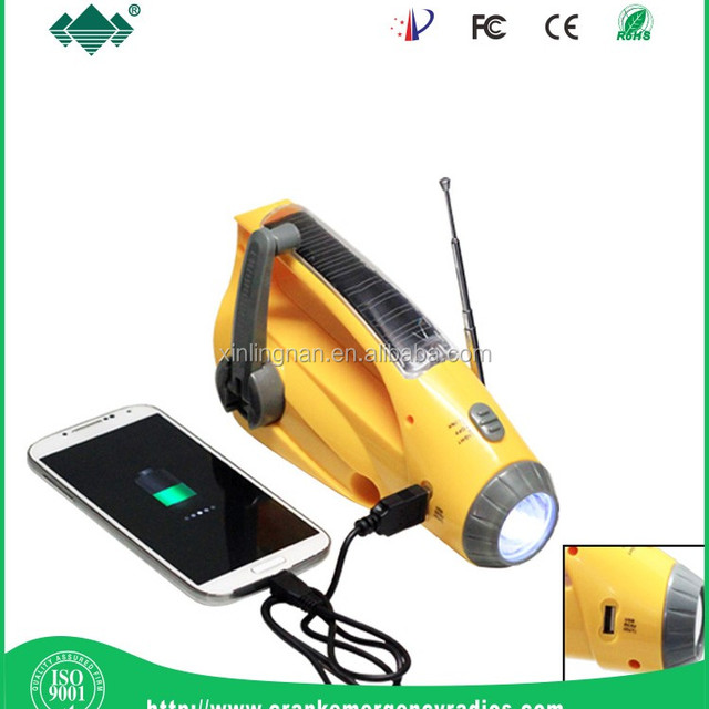 Rechargeable Car Charge water-proof shock resistant durable earthquake radio lamp