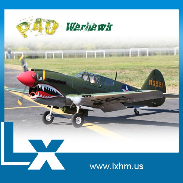 Avion rc electric full composite warbird P-40