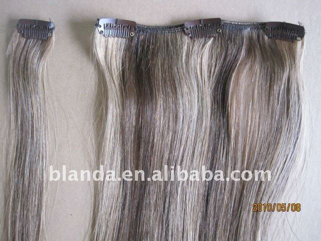 Grey White Clip In Human Hair Extensions Buy Grey White Clip In