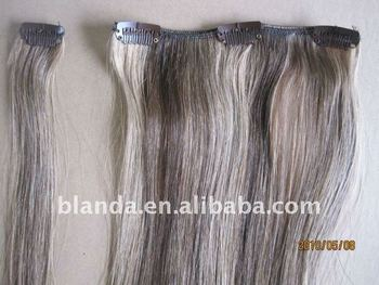 Grey white clip in human hair extensions buy grey white clip in grey white clip in human hair extensions pmusecretfo Images