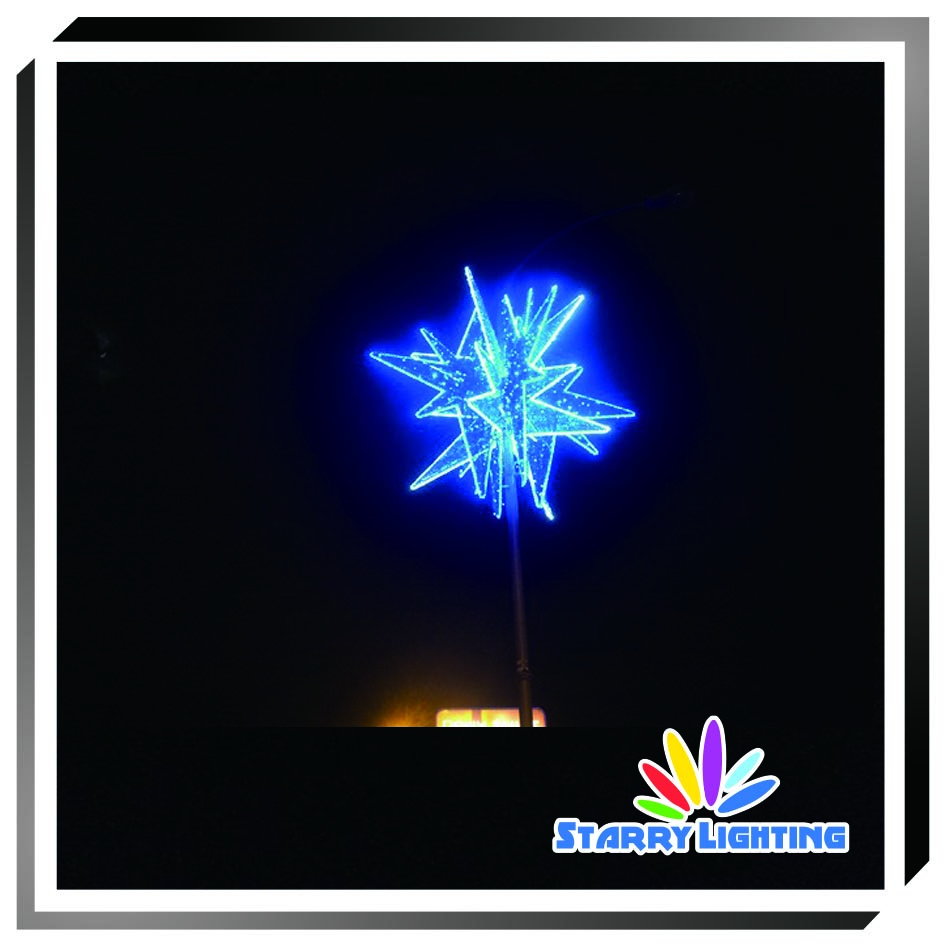 250cm pole motif light christmas led rope outdoor hanging christmas motif
