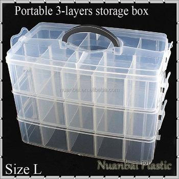 3 Tie Clear Portable Plastic Adjustable Diy Tool Organizer Bin Storage Box Fishing Tackle Box Buy Plastic Fishing Tackle Storage Box Storage