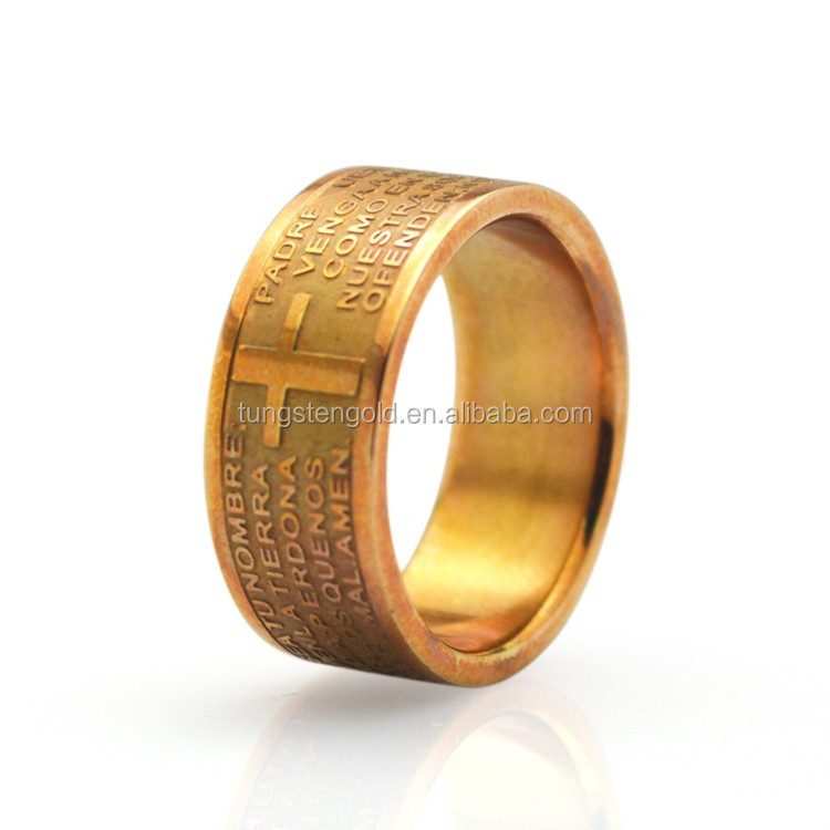 Ring señoras Anillo de cinta acero inoxidable Rose oro colores señores