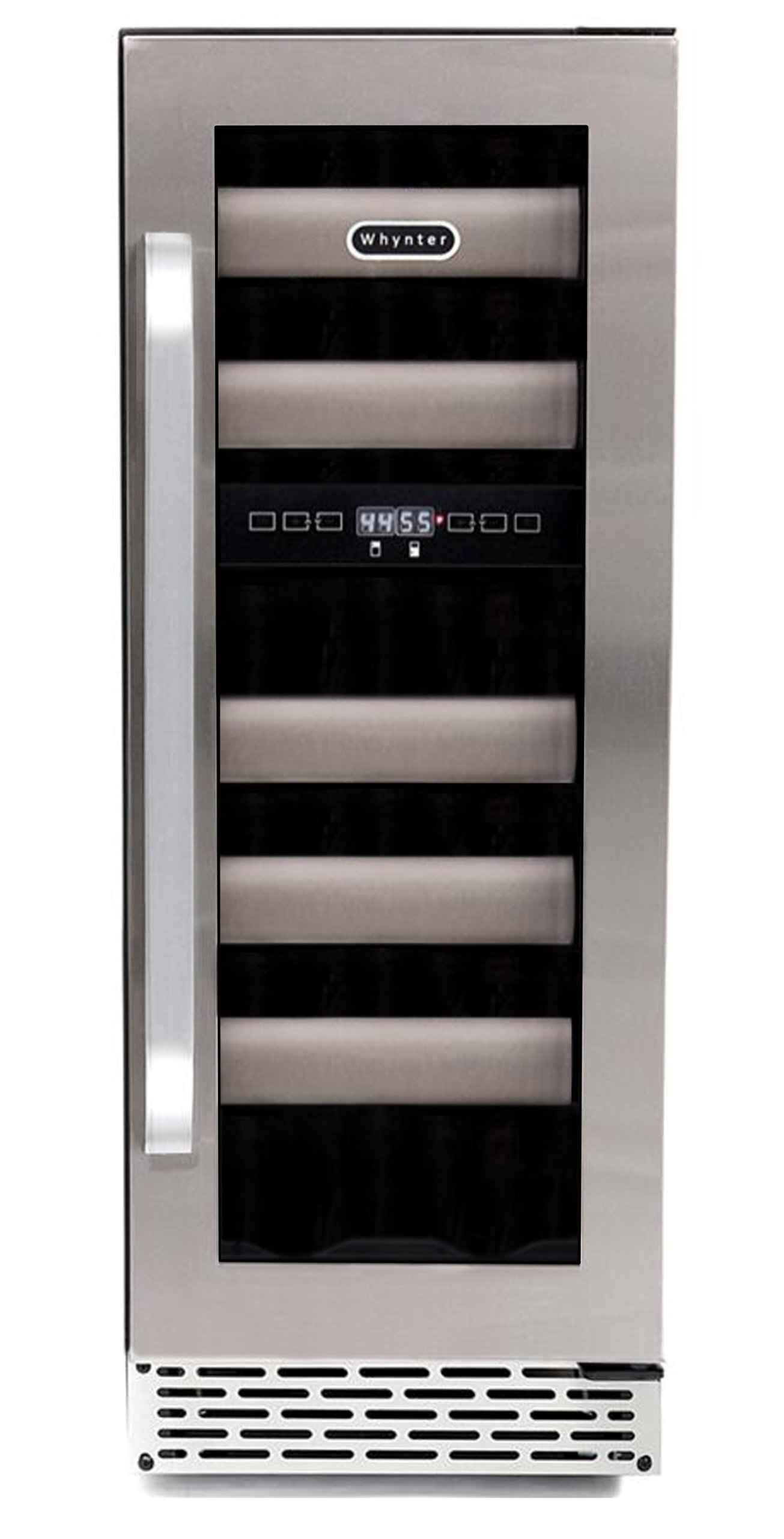 Whynter BWR-171DS Elite 17-Bottle Seamless Stainless Steel Door Dual Zone Built-in Wine Refrigerator