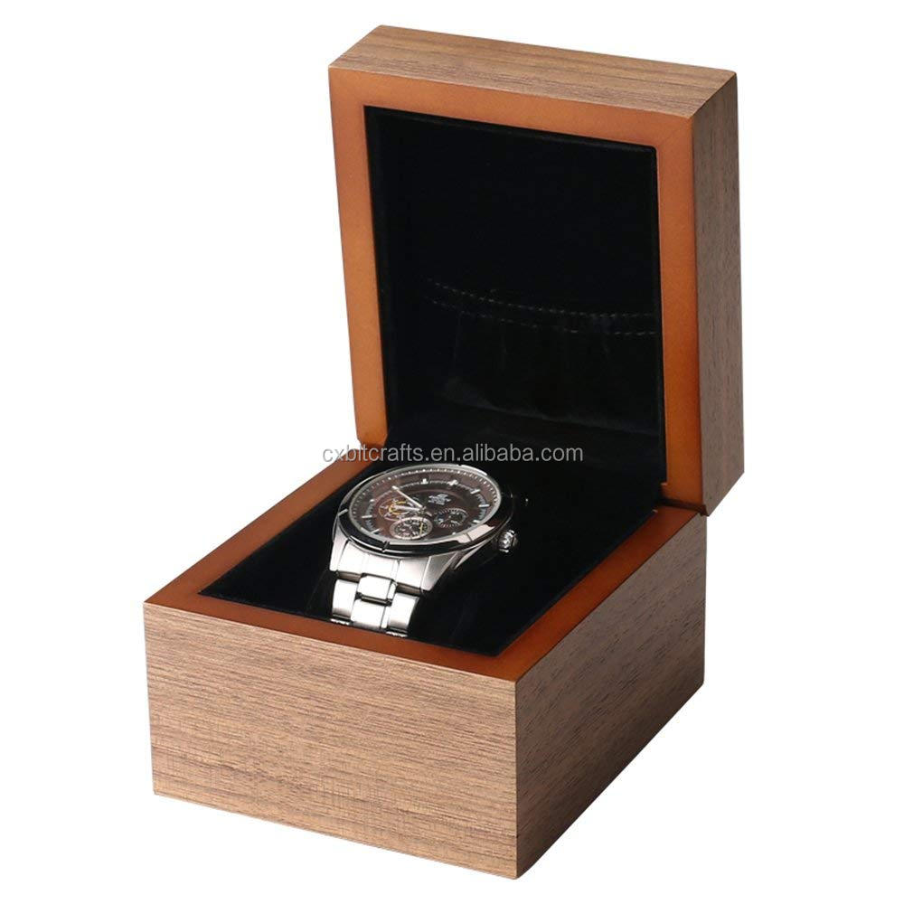 Customized Size Brown Walnut Wood Watch Box