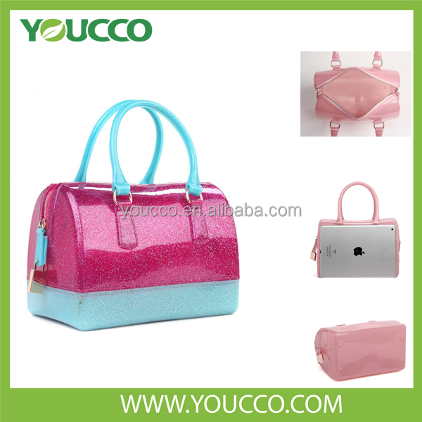 High quality latest girls buy designer labels for rubber silicone handbag