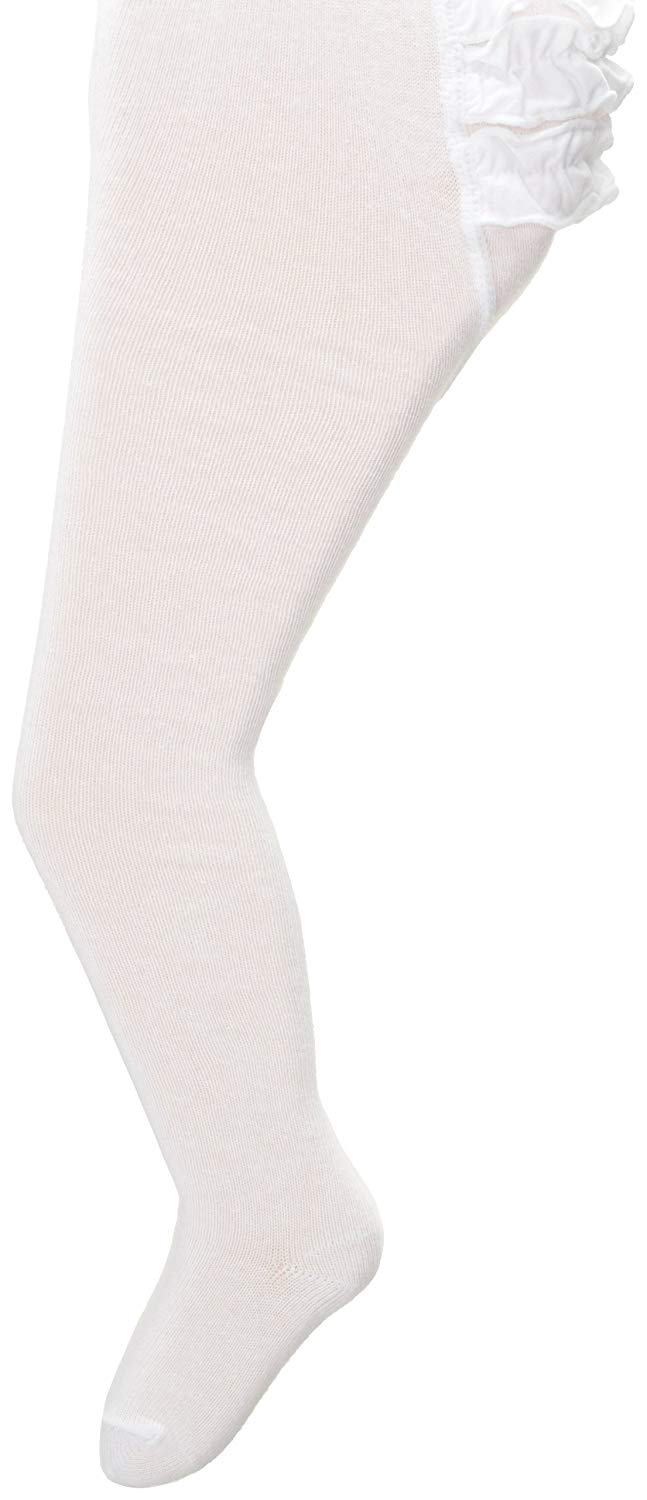 b33d6dd4c Get Quotations · Country Kids Baby-Girls Newborn Pima Ruffle Rhumba Tights  1 Pair