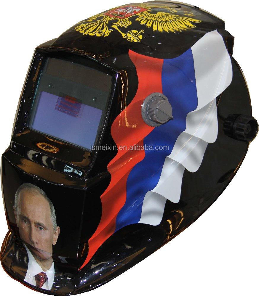 Auto Darkening Welding Helmet With Putin,The Coat Of Arms,The Flag ...